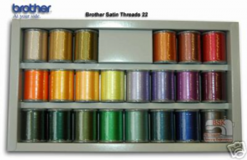 Brother Embroidery Machine Threads BOX OF 22 B243